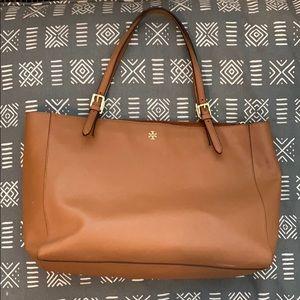 Tory Burch shoulder bag cognac/saddle brown